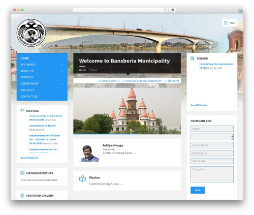 TownPress WordPress theme - bansberiamunicipality.org