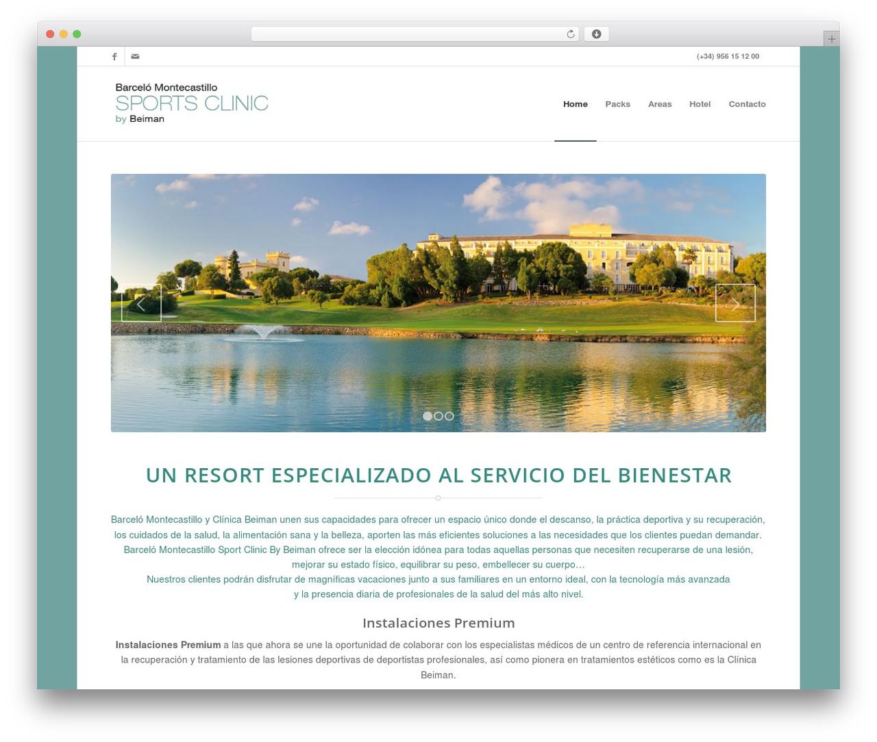 WordPress template Enfold - barcelosportsclinicbeiman.com