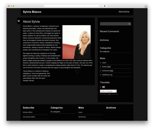 WordPress website template Black Label - beatricemodels.com