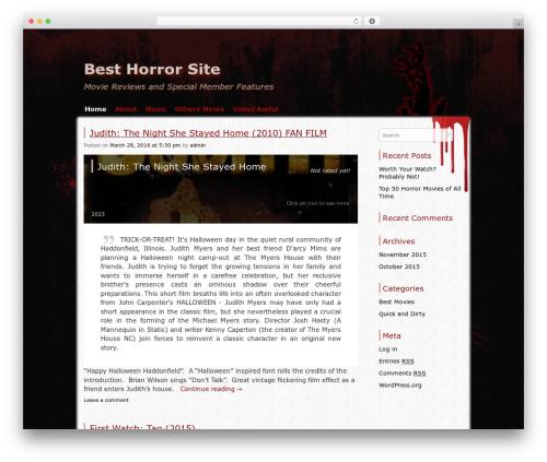 Zombie Apocalypse template WordPress - besthorrorsite.com