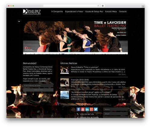 Best WordPress template Black Label - balletteatropaz.com