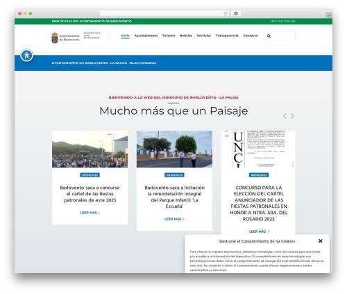 CityGov best WordPress template - barlovento.es