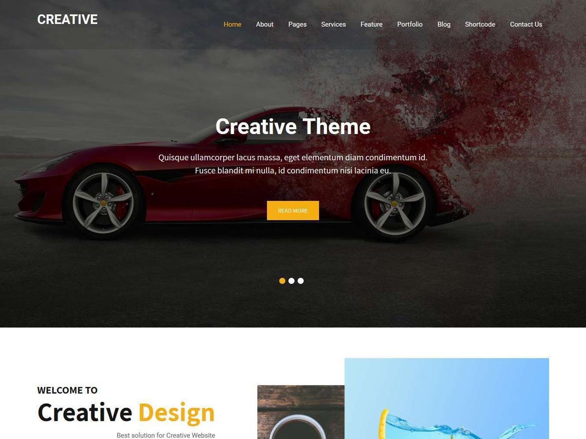 Creative Lite wallpapers WordPress theme