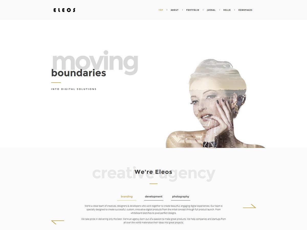 Eleos WordPress gallery theme