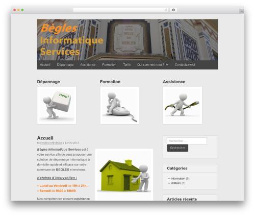 Gridiculous template WordPress free - begles-informatique-services.fr