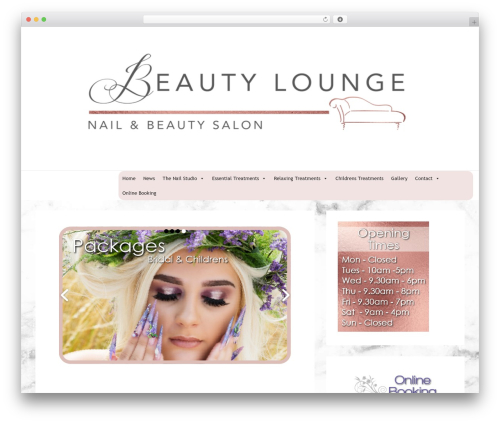 Responsive template WordPress free - beautyloungedoncaster.co.uk