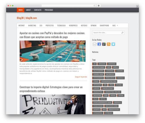 TruePixel WordPress theme - blog3k.com
