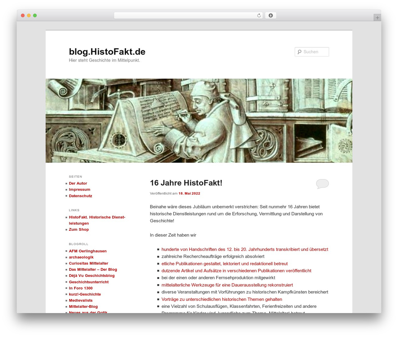 Twenty Eleven WordPress template free download - blog.histofakt.de