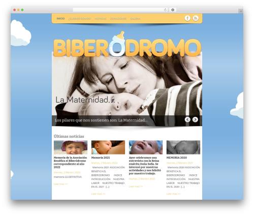 WordPress template Yasmin - biberodromo.com