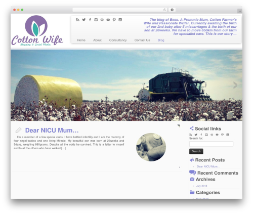 WordPress theme Customizr - blog.cottonwife.com.au