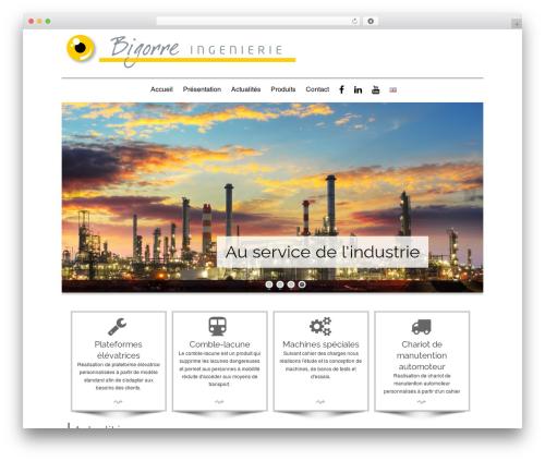 Best WordPress template isis Bigorre Ingénierie - bigorre-ingenierie.com/fr