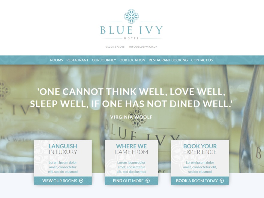 Blue Ivy Hotel Theme best hotel WordPress theme