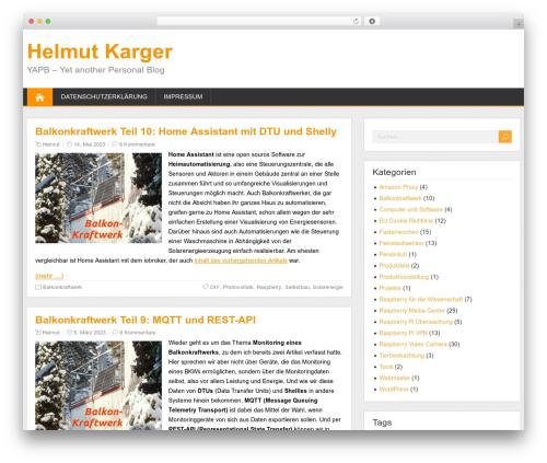 K2 Theme WordPress theme design - blog.helmutkarger.de