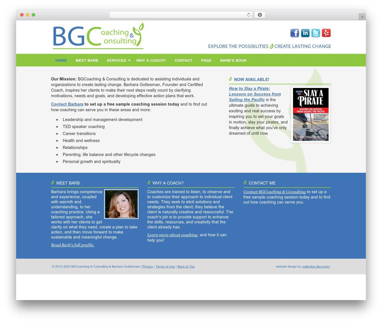 WordPress theme Executive Child Theme - bgcoaching.com