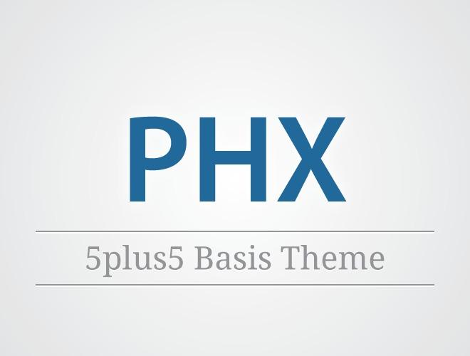 WordPress website template phx