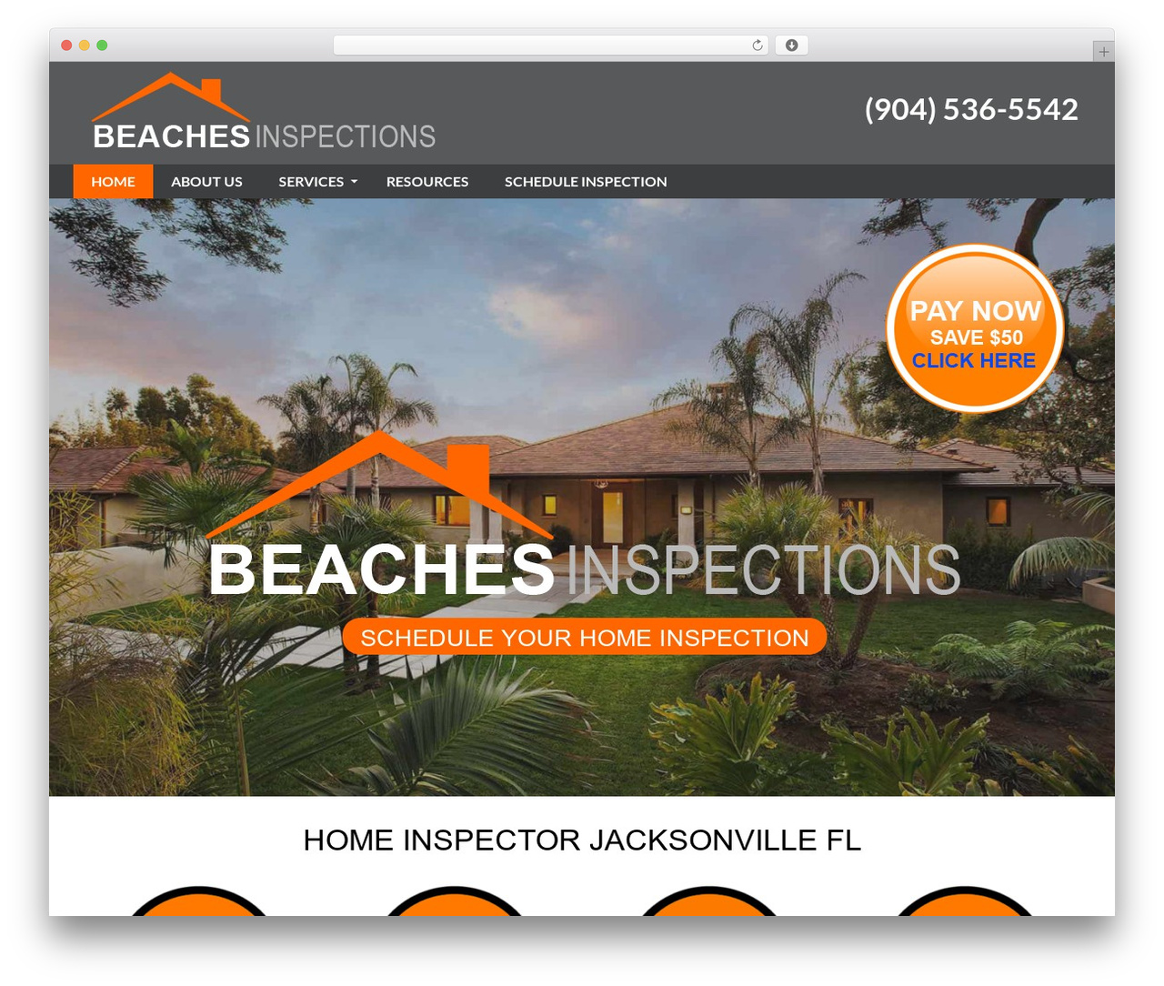 WordPress website template PressCore - beachesinspection.com
