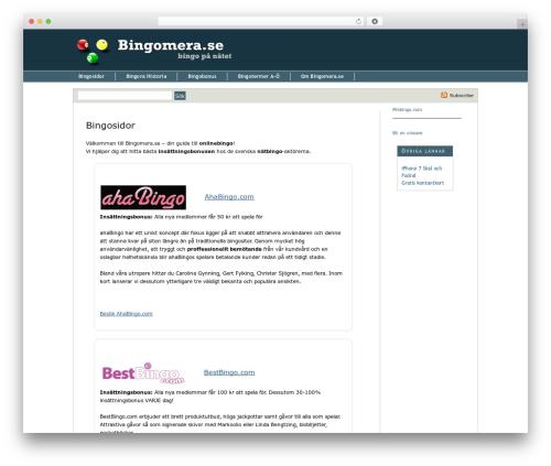 WP theme Thesis - bingomera.se