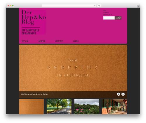 Yasmin WordPress theme design - blog.hepundko.de