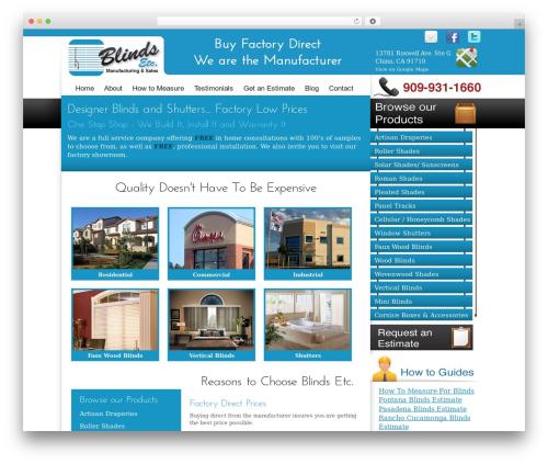 BLANK Theme best WordPress theme - blindsetcusa.com