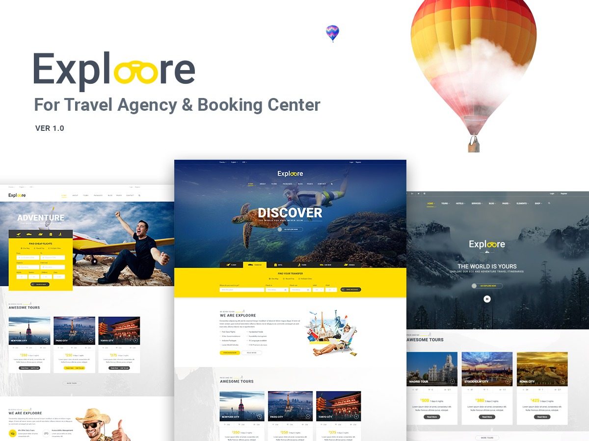 Exploore Child best WordPress template