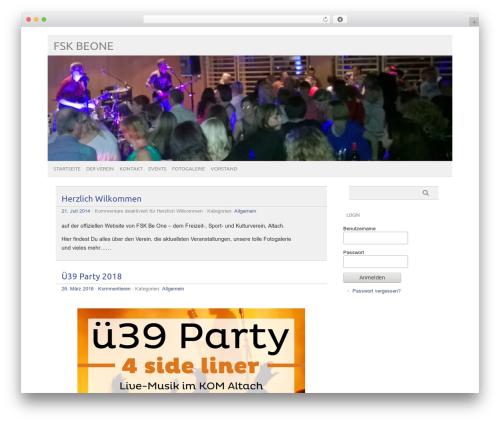 picolight WordPress template - beone.at