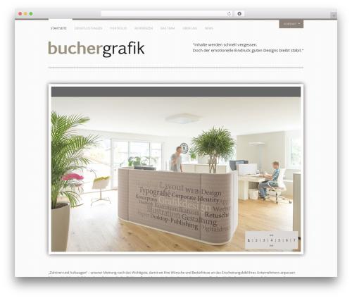 Yin and Yang WordPress page template - buchergrafik.at