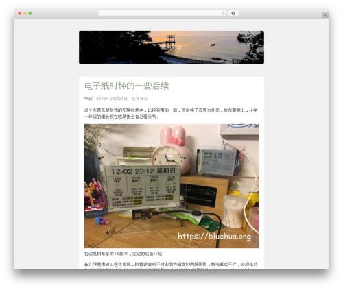 Best WordPress template SlimWriter - bluehua.org