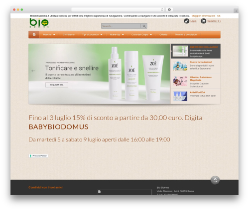 Bio Domus Theme WordPress theme design - biodomusroma.it