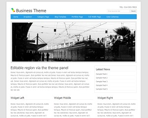Blue Internet Theme best WordPress template