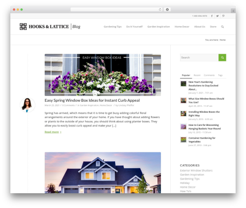 Enfold WordPress blog template - blog.hooksandlattice.com