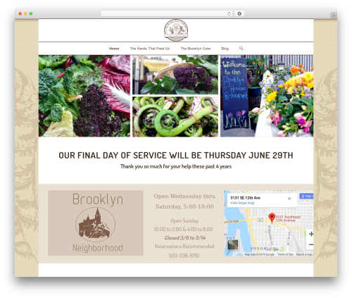 Enfold WordPress restaurant theme - brooklynhouserestaurant.com