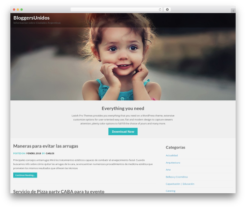 Lavish free WordPress theme - bloggersunidos.com.ar