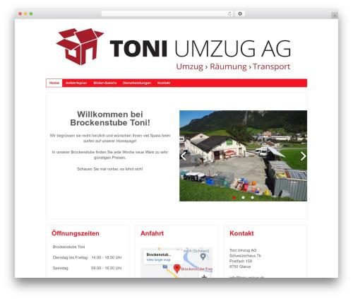 Responsive WordPress theme - brockenstube-toni.ch