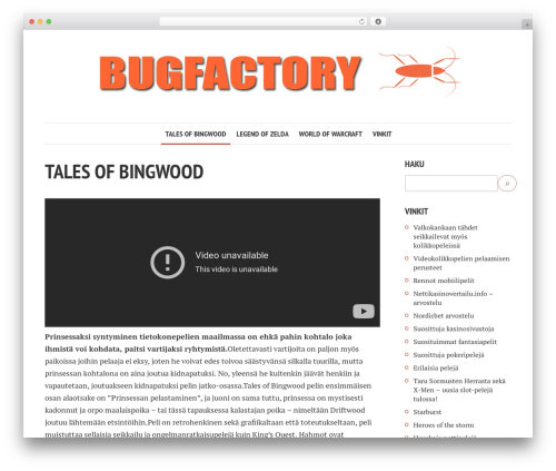 Shamrock best WordPress template - bugfactory.fi