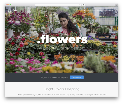 Uniregistry WordPress website template - nic.flowers
