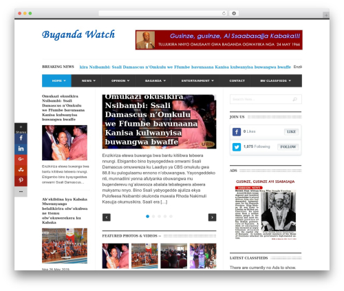 UrbanNews newspaper WordPress theme - bugandawatch.com