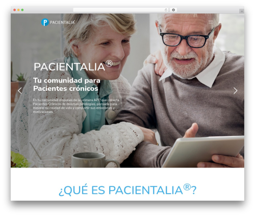 WordPress website template Betheme - pacientalia.com