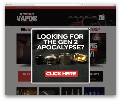 WordPress website template The Retailer - blownoutvapor.co