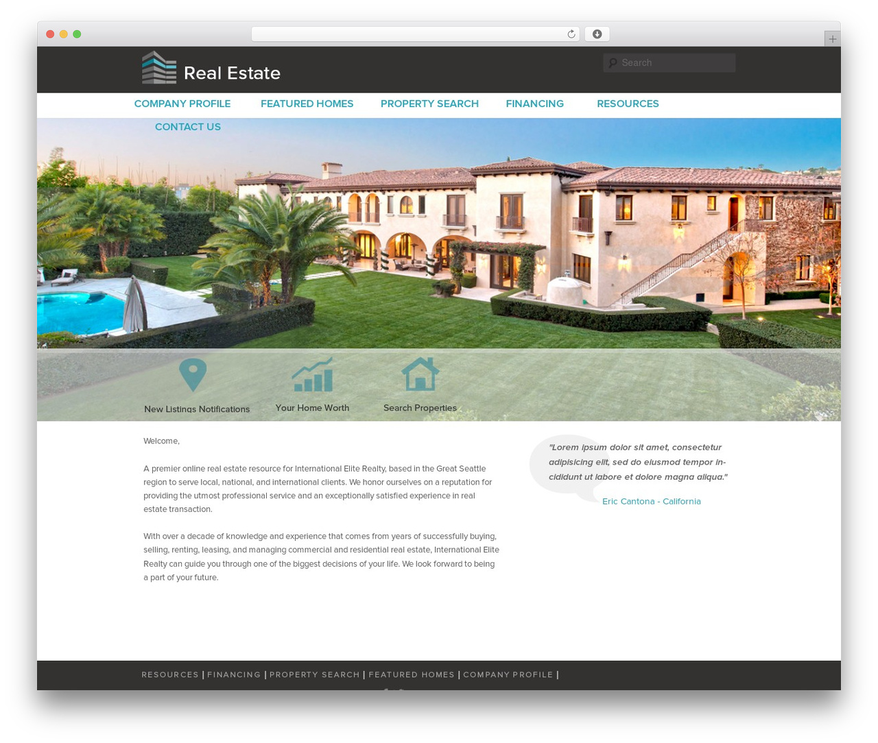 Best WordPress theme Twenty Eleven - blessrealestate.com