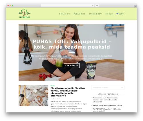 Cassia WordPress theme - bioblogi.eu