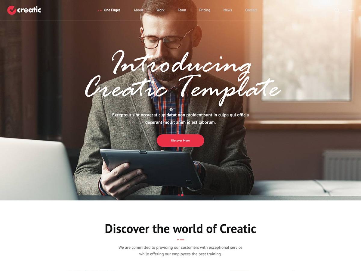 Creatic best portfolio WordPress theme