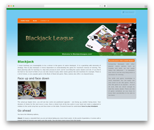 D5 Socialia free WP theme - blackjackleague.com