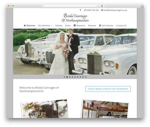 Divi WordPress wedding theme - bridalcarriages.co.uk