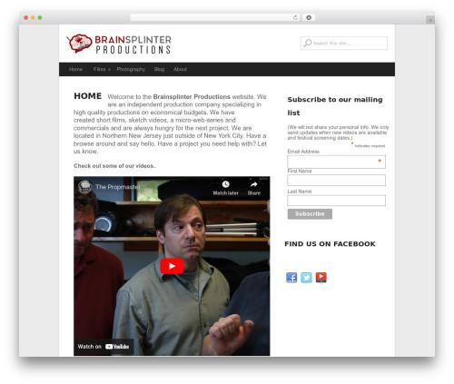 GreenChilli WordPress theme - brainsplinter.com