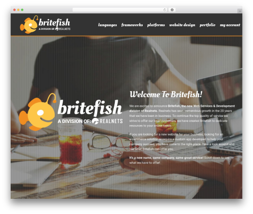 Jupiter WordPress template for business - britefish.net