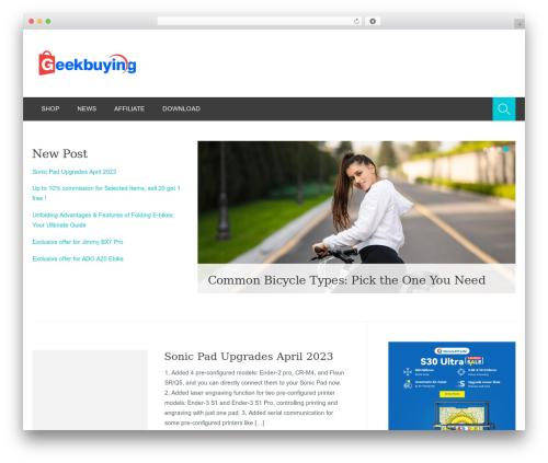 Planer premium WordPress theme - blog.geekbuying.com