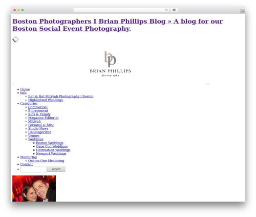ProPhoto WordPress wedding theme - brianphillipsblog.com