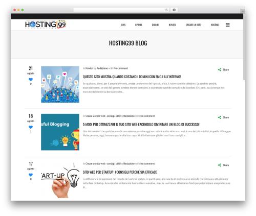 Subway WordPress news template - blog.hosting99.it