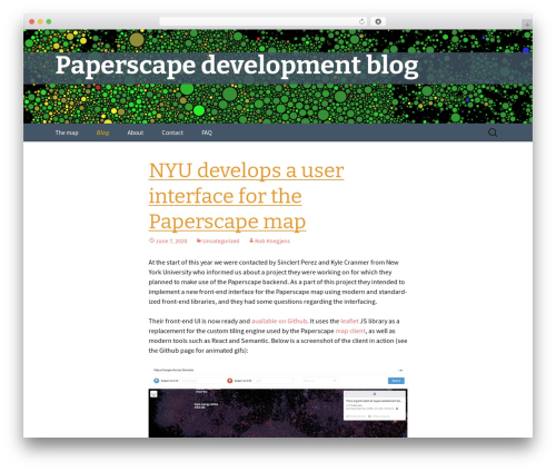 Twenty Thirteen free WP theme - blog.paperscape.org