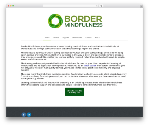 WordPress theme Quare - bordermindfulness.com